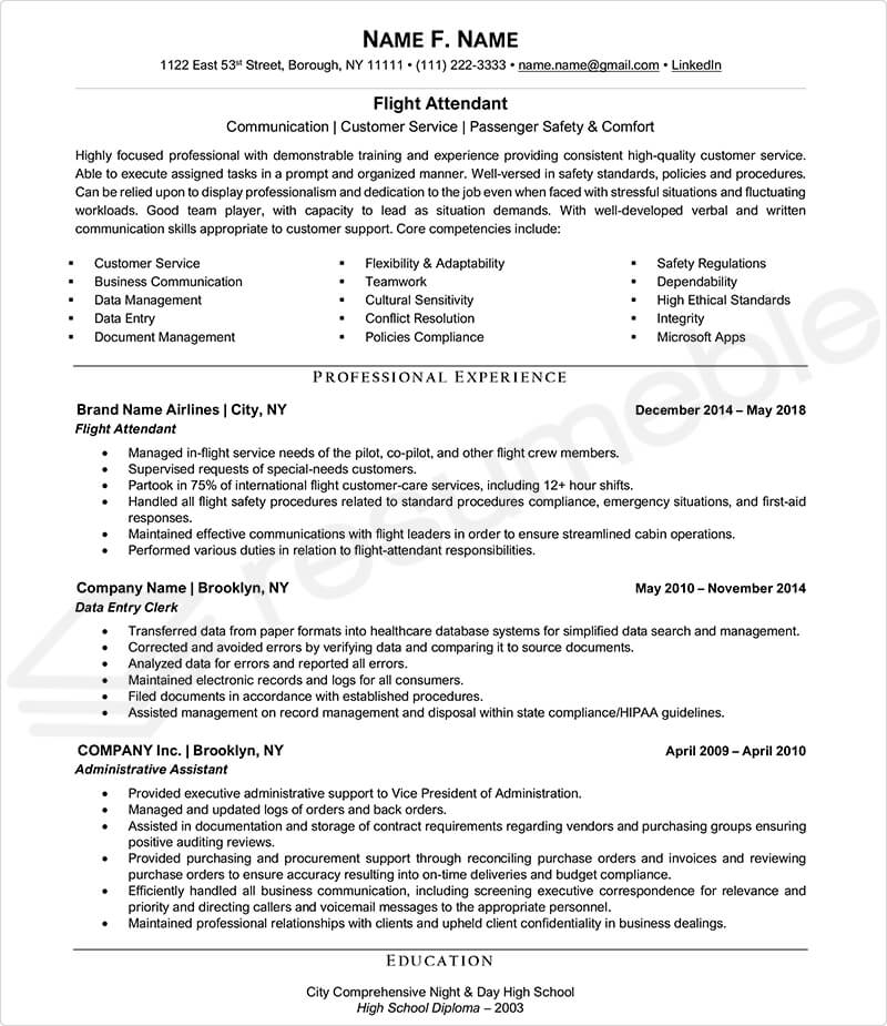 Sample Resumes for Aviation