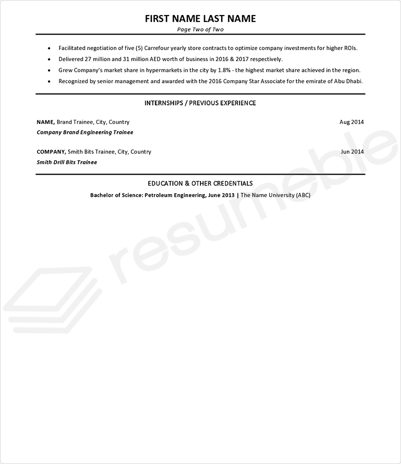 Sample Resumes for Management Consulting